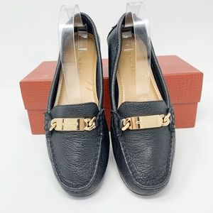 Coach A7751 'Olive' Black Leather Loafers